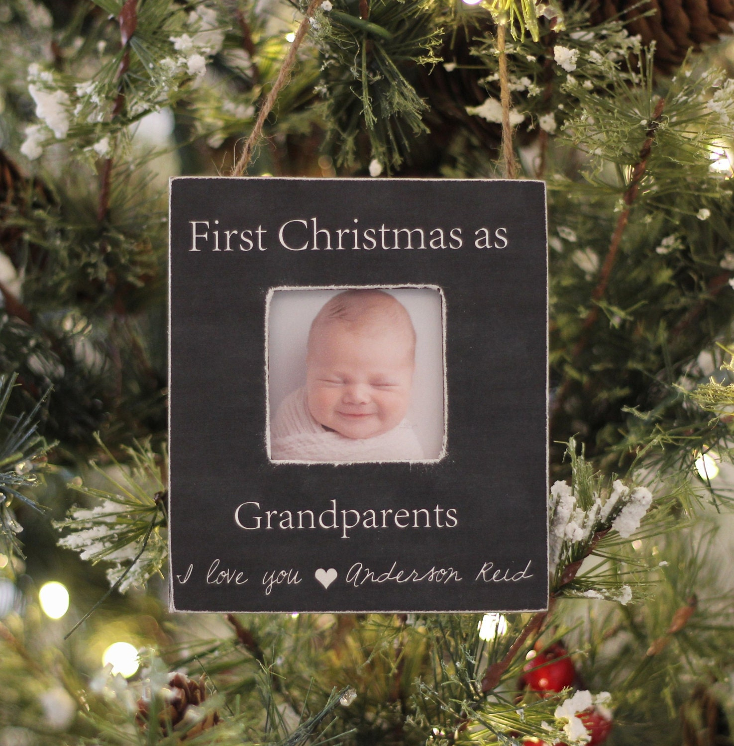 Grandparents Ornament Christmas GIFT Personalized Photo | Etsy
