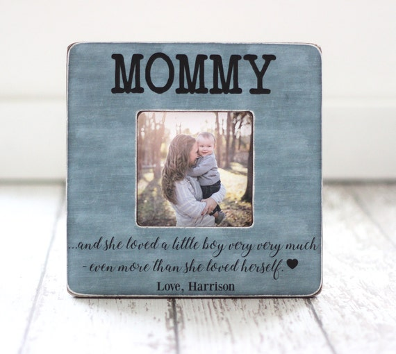 Mom Frame Little Boy Mother Son Quote Personalized Picture Etsy