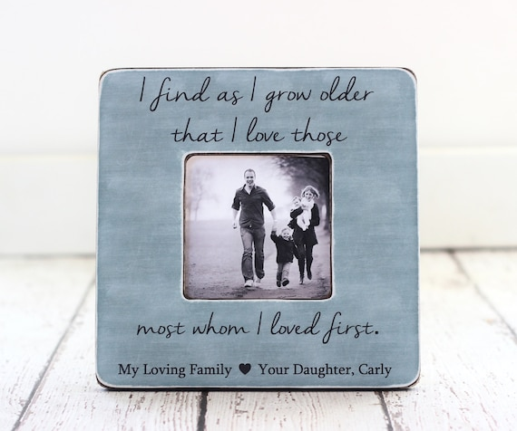 Gift For Parents Mom Dad Family Personalized Picture Frame Etsy