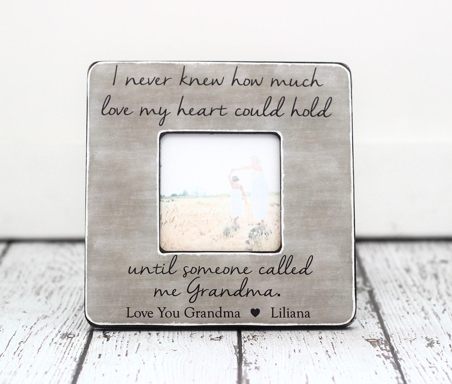 Grandma Grandmother Gift Personalized Picture Frame Gift Quote | Etsy