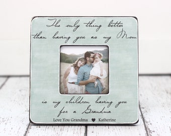 Grandma Grandmother Gift for Mother's Day Personalized Picture Frame Gift from Daughter Grandchildren