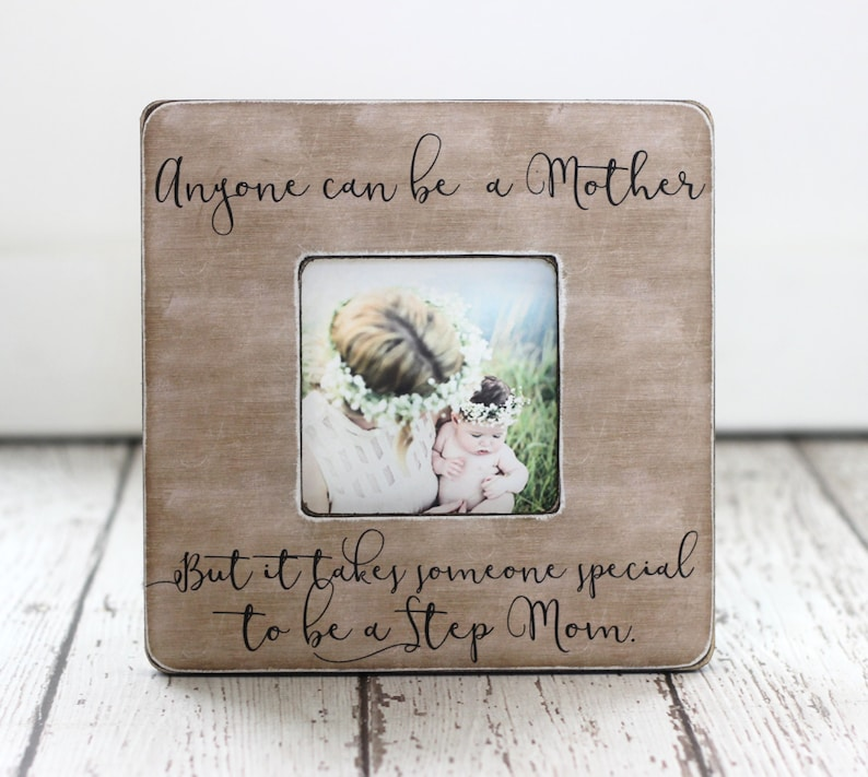 Gift for Step Mom Stepmother Personalized Picture Frame Anyone image 0