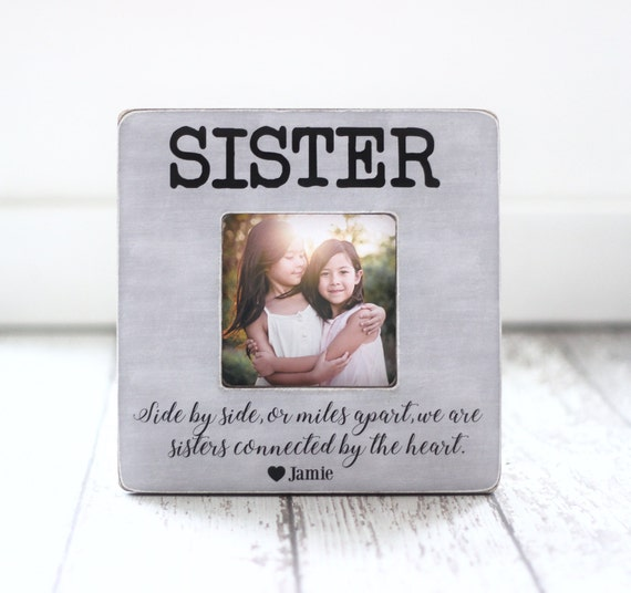 Sister Gift Personalized Picture Frame Sisters Best Friend | Etsy
