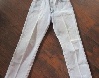 1980's Wrangler High Waisted Denim Jeans Waist 28
