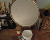 Antique Shaving Stand Mirror Shaving Mirror With White Milk Glass Cup And Brush