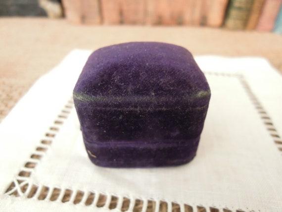 Vintage Victorian Purple Velvet Ring Box / Weddin… - image 7