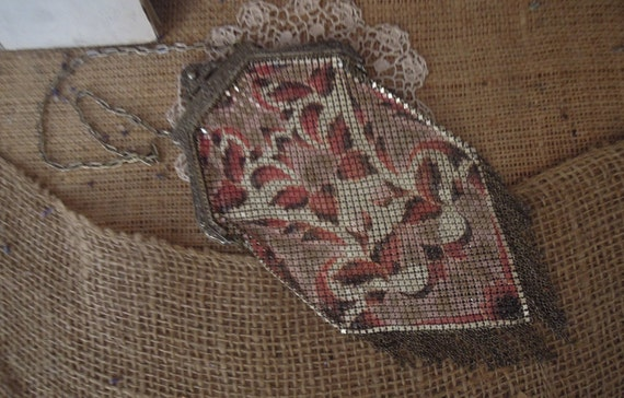 Vintage Victorian Art Deco Pink Purse / Whiting an