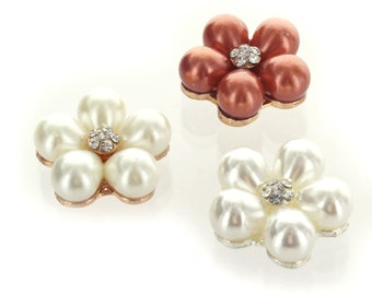 50pcs Cream Ivory 16mm Flat Back Half Round Resin Pearls Embellishment Gems C14