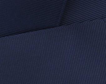 Navy Grosgrain Ribbon Solid- Choose Width / Length