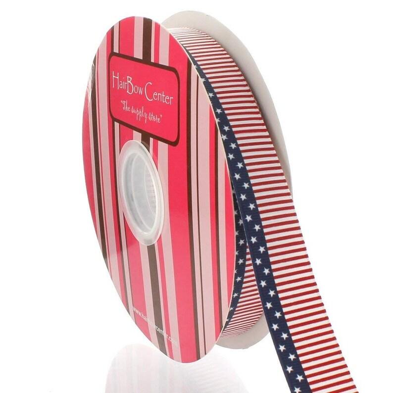 78 Flag Grosgrain Ribbon Choose Length