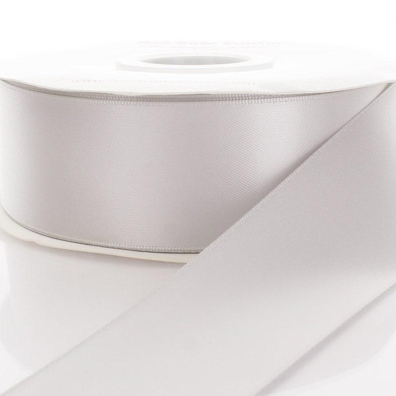 Grey Double Face Satin Ribbon Choose Width  Length