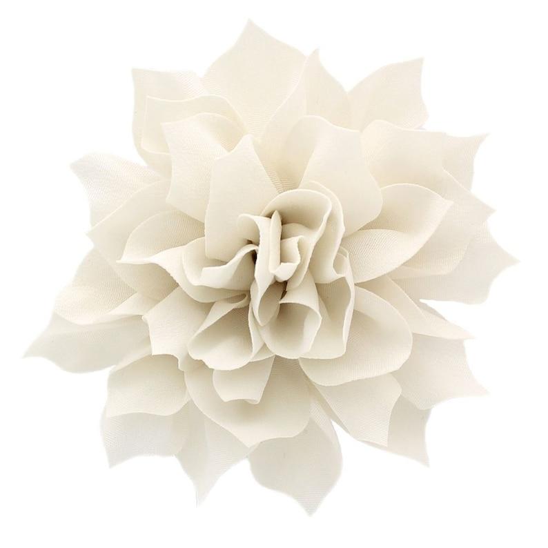 3.5 Medium Petal Blossom Hair Flower Peach 2 pcs