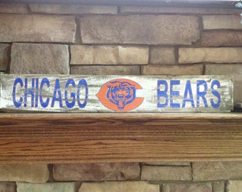 chicago bears pallet sign