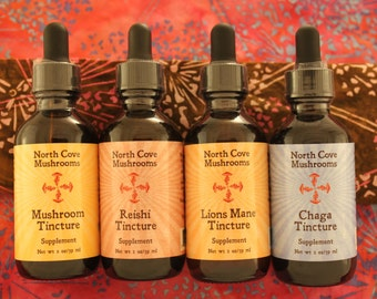 Free Shipping!  One of each Tincture (four 2 oz bottles) - save 15 dollars!