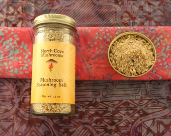 Free Shipping! Mushroom Seasoning Salt Blend - half cup jar