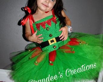 Christmas dress (Santa's little helper tutu)