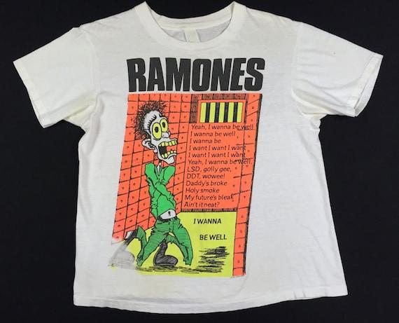 Vintage 80s RAMONES Ramones Mania I Wanna Be Well
