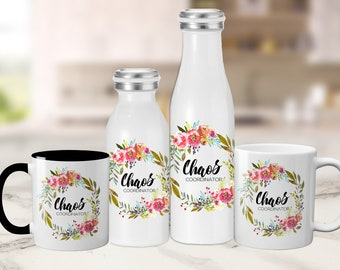 Chaos Coordinator - Mug, Tumbler and Water Bottles - Mom or Teacher Gift - Teacher Appreciation, Mother's Day, Holiday Gift, Gift For Mom