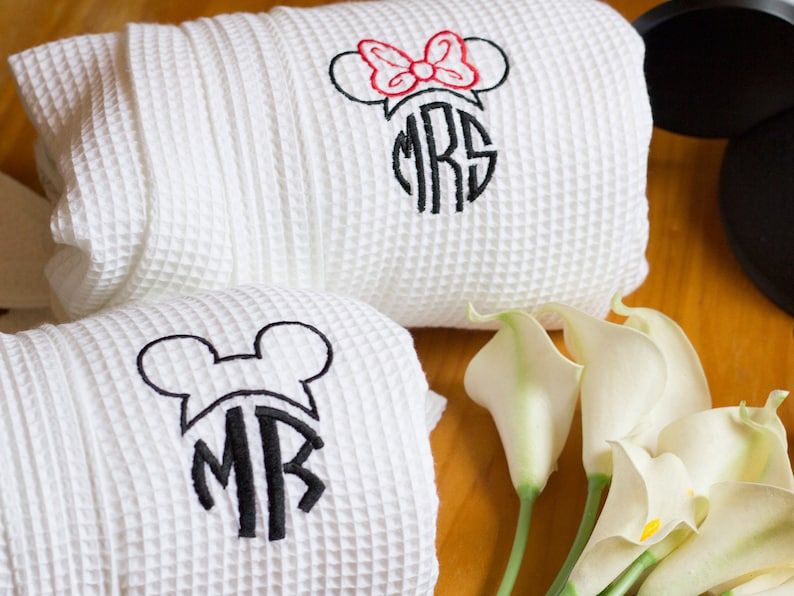 Disney Inspired Couples robes  Set of Mr. and Mrs. Robes  image 0