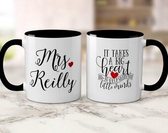 Personalized Teacher Gift - Teacher mug, Teacher Appreciation, New Teacher, Gift For Teacher, It Takes A Big Heart To Shape Little Minds