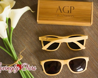 Personalized Engraved Wooden Sunglasses Bamboo Sunglasses - Fathers Day Gift, Boyfriend Gift, Husband Gift, Groom Gift, Groomsmen Gift