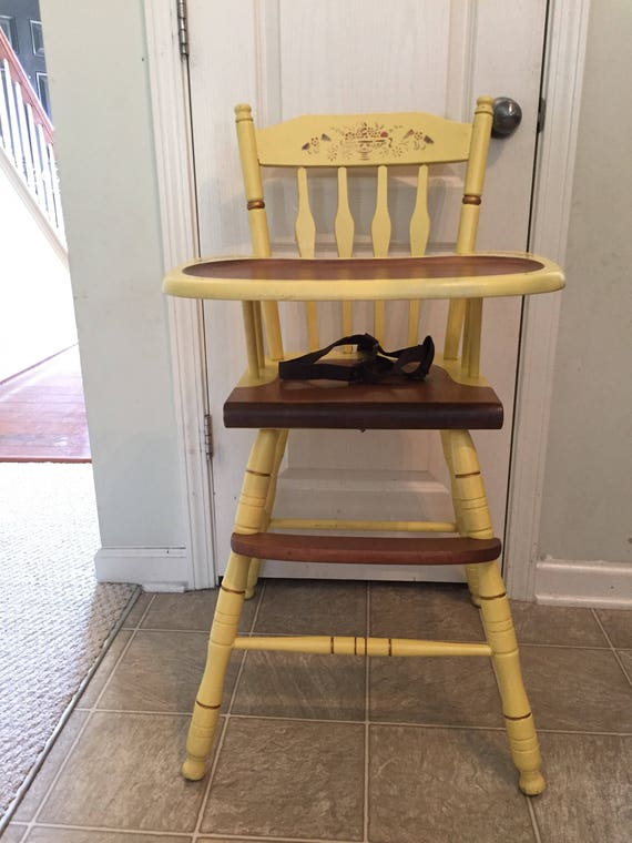 image 0 - Rare Hitchcock High Chair Vintage Wooden High Chair Jenny Etsy