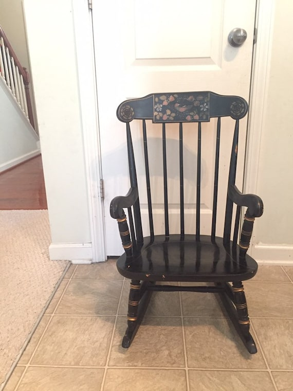 purchase cheap fde9a 63b56 Price reduced! Childs Rocking Chair, Hitchcock Rocker, Vintage Rocking  Chair, Wooden Rocking Chair, Wood Rocker, Childrens Rocker, Antique R