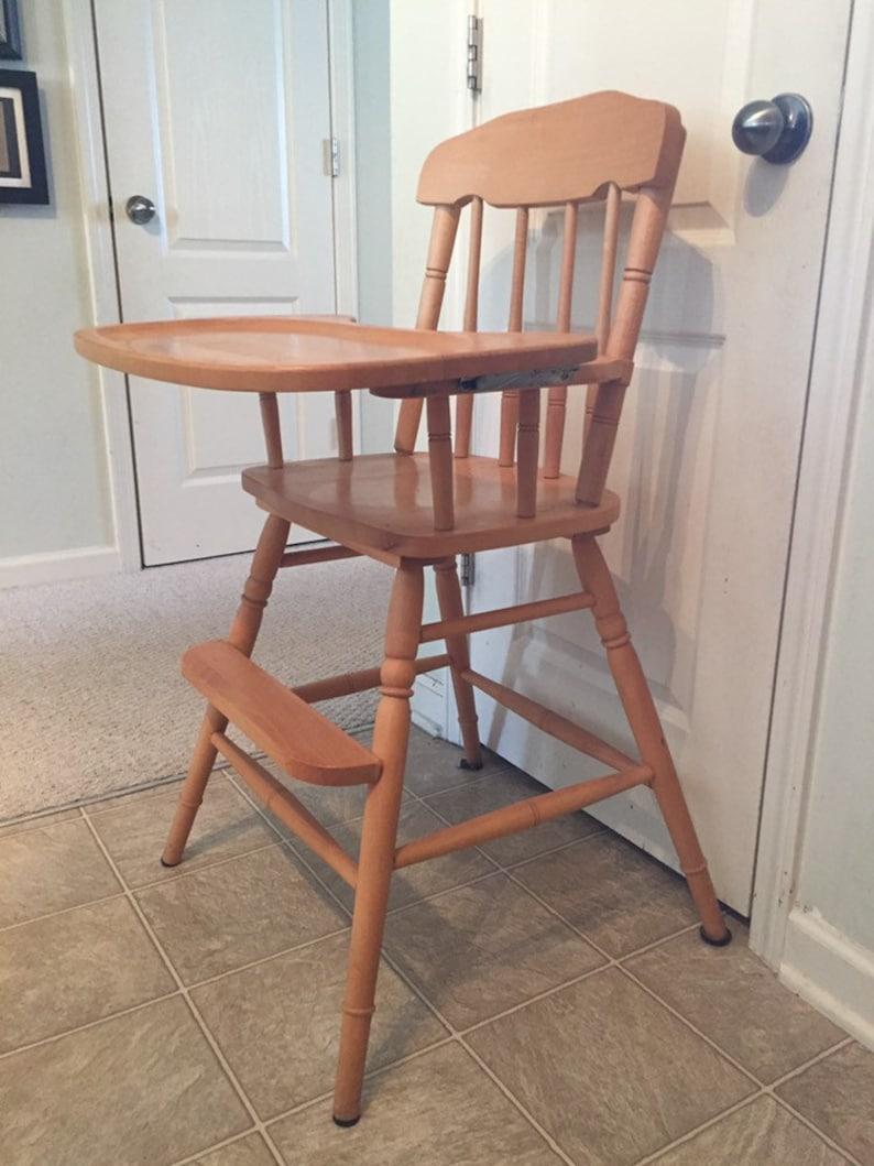 Vintage Wooden High Chair Jenny Lind Antique High Chair Vintage High Chair Custom Painted High Chair 1st Birthday Smashcake Bentwood