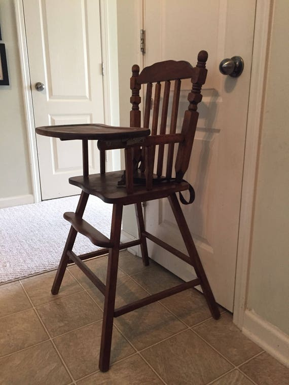 image 0 - Fully Refinished Vintage Wooden High Chair Jenny Lind Etsy
