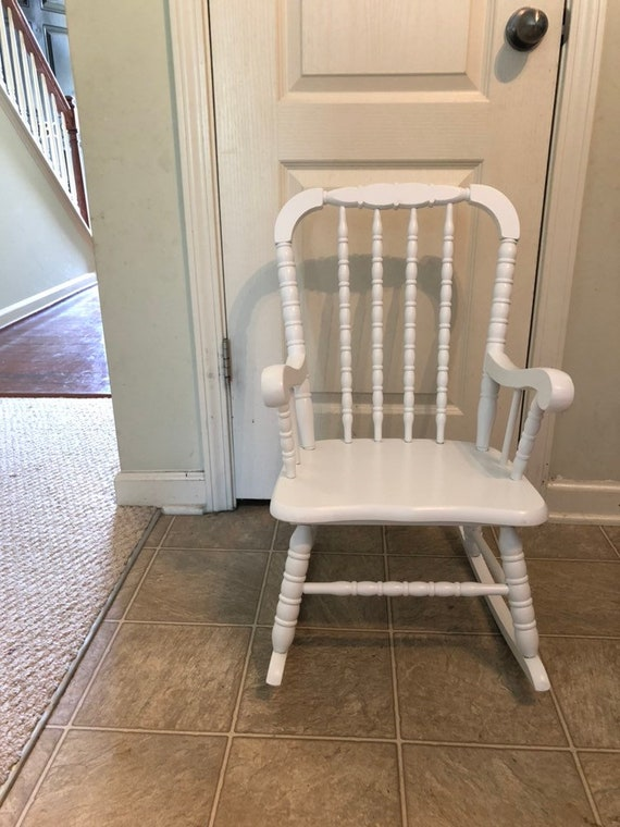 Enjoyable Sold Professionally Painted Childs Rocking Chair Jenny Lind Rocker Vintage Rocking Chair Wooden Rocking Chair Wood Rocker Childrens Ro Unemploymentrelief Wooden Chair Designs For Living Room Unemploymentrelieforg