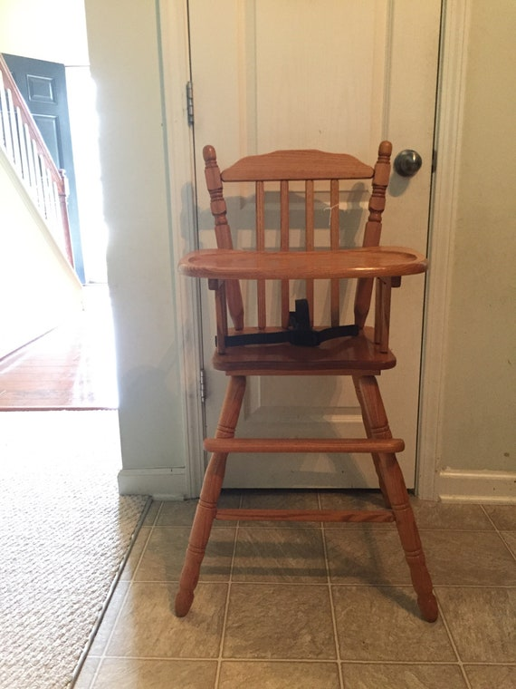50 - Vintage Wooden High Chair Jenny Lind Antique High Chair Etsy