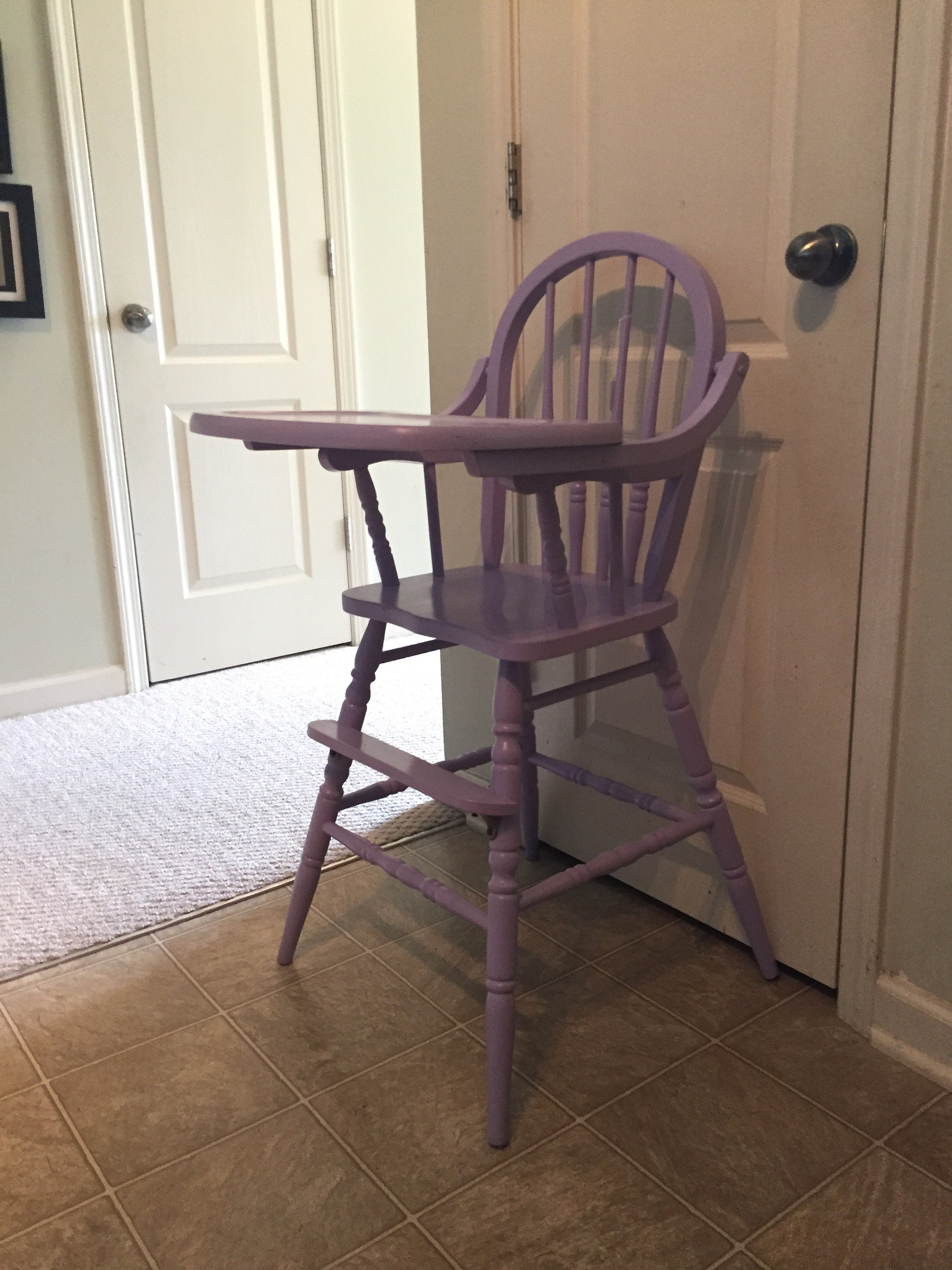 Vintage Wooden High Chair Jenny Lind Antique High Chair Etsy