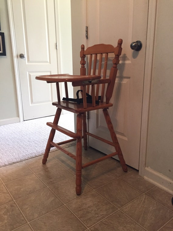image 0 - Vintage Wooden High Chair Jenny Lind Antique High Chair Etsy
