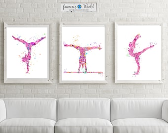 Gymnastics Gift,teen Gift Gymnastics Wall Art, Gymnastic Printable,  Gymnastic Party,Sport Print, Gymnast Girl Room Decor