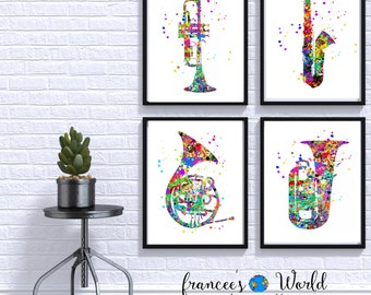 Music wall art | Etsy