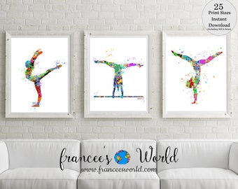 Gymnastics Gift,Teen Gift, Gymnastic Poster, Pink Gymnastics , Gymnastic Printable, Gymnastic party,Sport Print, Gymnast-girl room decor
