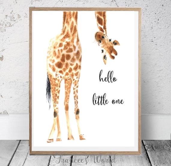 Giraffe Print Giraffe Printable Hello Little One