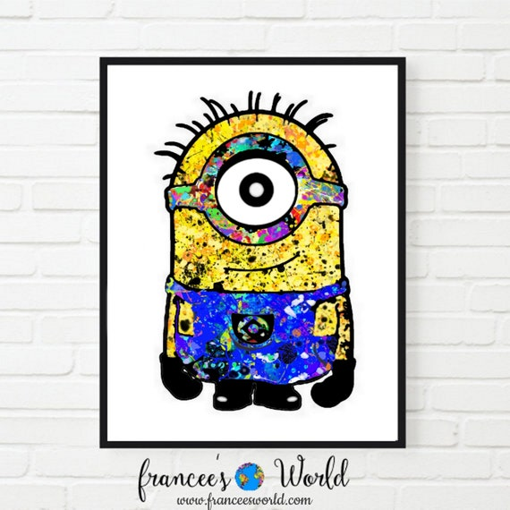 graphic relating to Minion Eye Printable titled Minion Despicable Me Video clip Stuart 1 Eye Minion Watercolor