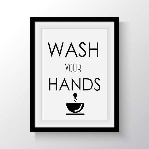 Wash Your Hands Printable Art Bathroom Printable Art Bathroom Wall Decor Funny Bathroom Decor Funny Art Bathroom Art Modern Bathroon Decor By Francee S World Catch My Party