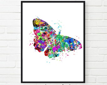 Butterfly Print, Butterfly Watercolor, Digital Download, Wall Decor Butterfly gift INSTANT DOWNLOAD Printable Butterfly Wall Art