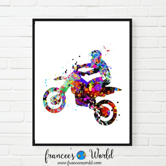 MOTOCROSS DIRT BIKE JUMP POSTER ART PRINT A4 A3 SIZE BUY 2 GET ANY 2 FREE