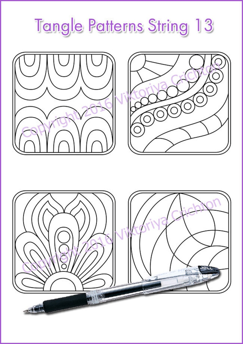 photo relating to Zentangle Patterns Free Printable identified as Strings for drawing zentangles_13. Zentangle beginner web pages. Tangle behavior printable string, PDF.