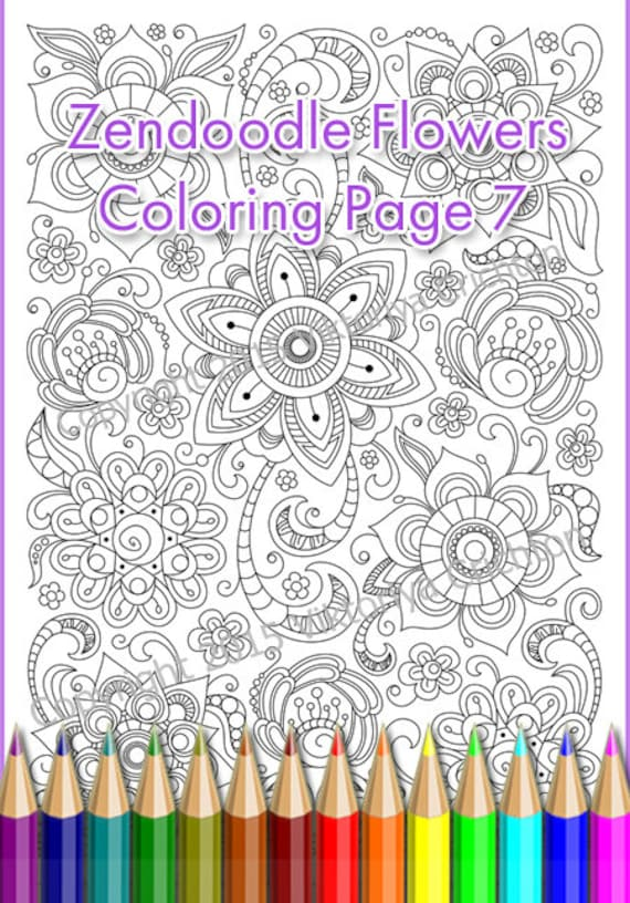 Coloring Page PDF Adults And Children Printable Doodle