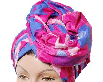Lovely and multicolored African Head wrap