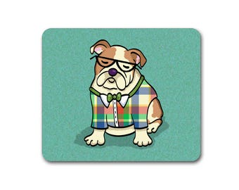 English Bulldog Mouse Pad - Choose background color