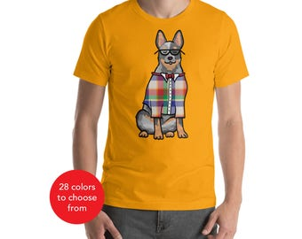 Australian Cattle Dog, Blue Heeler Shirt - Unisex - Hipster Cattle Dog