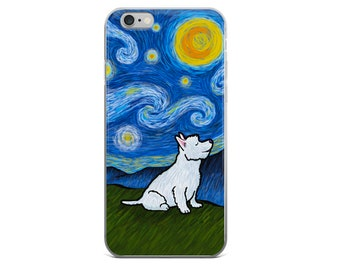 Westie West Highland Terrier Phone Case - Starry Baroo Night - iPhone and Galaxy