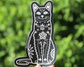 Cat Decal - Sugar Skull Cat - Dia de los gatos - Cat lover gift