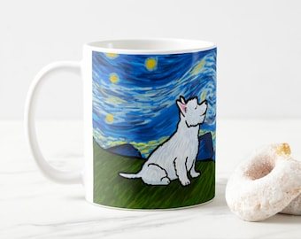 Westie West Highland Terrier Coffee Mug - Westie Starry Baroo Night Cup