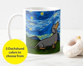 Dachshund Coffee Mug - Dachshund Starry Baroo Cup